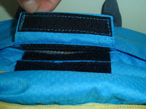 Velcro fastener of float 22 airbag compartment
