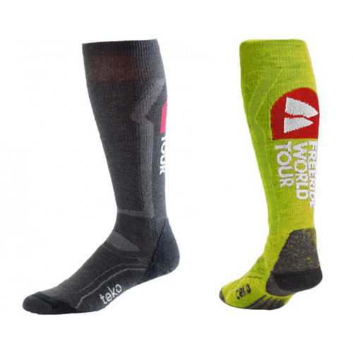 Teko Unisex Ski Light Sock - Twin Pack