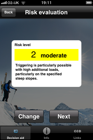 ortovox app avalanche risk level