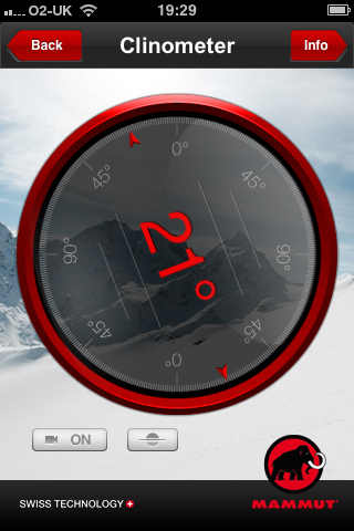 slope meter from mammut safety app